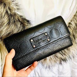 KATE SPADE⚡️Black Pepper Leather Tri-Fold Wallet